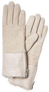 Banana Republic Foil Shearling Gloves