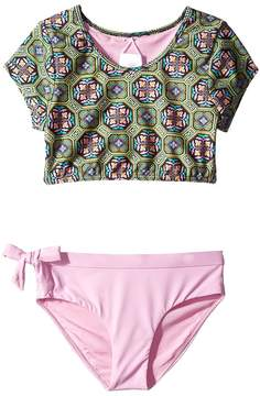 O Evelyn Sleeved Crop Top Set (Big Kids)