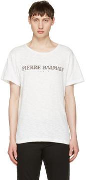 Pierre Balmain Off-White Logo T-Shirt