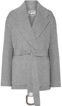 Acne Studios Lilo Doublé Belted Wool And Cashmere-blend Coat - Gray