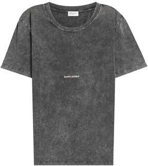 Saint Laurent Cotton T-Shirt with Logo