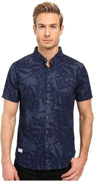7 Diamonds Waves of Nature Short Sleeve Shirt Men's Short Sleeve Button Up