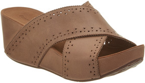 Chocolat Blu Mysti Leather Wedge Sandal