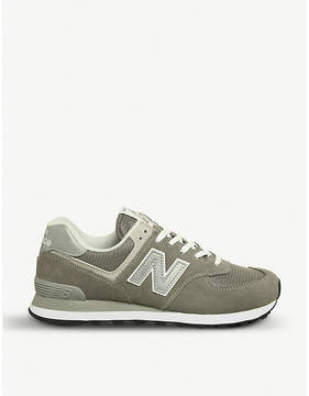 New Balance 574 low-top suede and mesh trainers