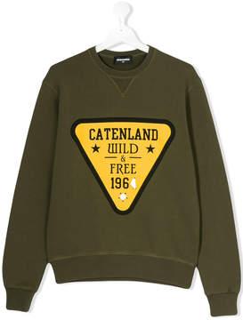 DSQUARED2 Catenland Wild & Free 1964 patch sweatshirt