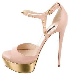 Ruthie Davis Leather Platform Sandals