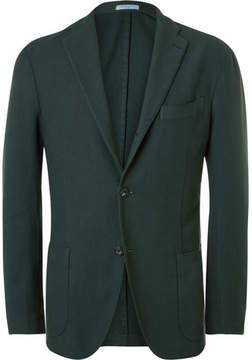 Boglioli Green Slim-Fit Cotton Blazer