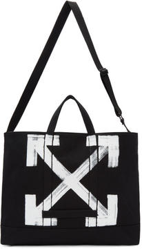 Off-White Black Brushed Arrows Tote