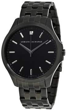 Armani Exchange Black DIal Black PVD Stainless Steel Men's Watch