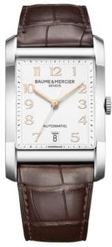 Baume & Mercier Hampton Stainless Steel & Brown Automatic Strap Watch