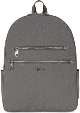 Kipling Tina Quilted Medium Laptop Backpack - BLACK - STYLE