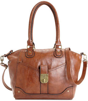 Style & Co Twistlock Satchel Crossbody, Created for Macy's