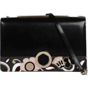 Bulgari Black Leather Handbag