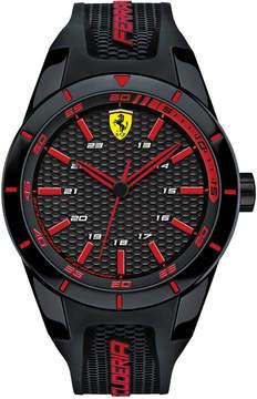 Ferrari Scuderia Mens Redrev Black Silicone Strap Watch 44mm 0830245