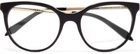Victoria Beckham Classic Kitten Cat-eye Acetate And Gold-tone Optical Glasses - Black