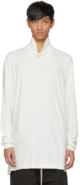 Rick Owens White Surf Turtleneck