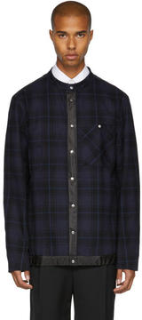 Public School Navy Check Ouray Shirt