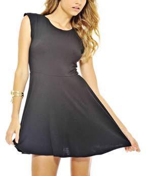 AX Paris Black Sleeveless Skater Dress - Women