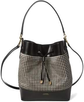 Lauren Ralph Lauren Debby Houndstooth Drawstring Bag