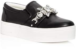 Marc Jacobs Women's Wright Embellished Leather Slip-On Platform Sneakers