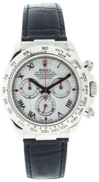 Rolex Daytona 116519 Rare Roman Meteorite Dial 18K White Gold Mens Watch