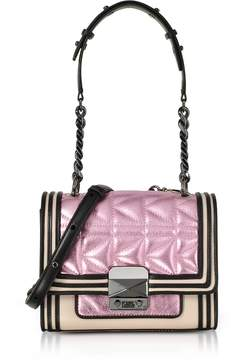 Karl Lagerfeld Metallic Pink K/Kuilted Mini HandBag