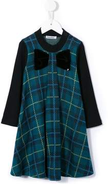 Familiar bow plaid dress