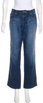 DKNY High-Rise Straight-Leg Jeans