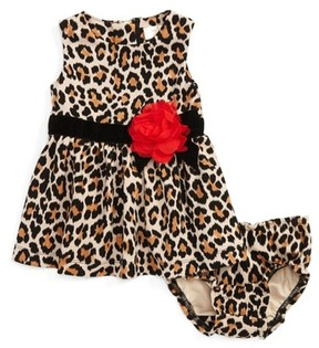 Kate Spade Infant Girl's Leopard Print Sleeveless Dress