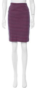 Chinti and Parker Striped Knee-Length Skirt