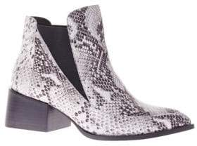 Sol Sana Rico Embossed Leather Ankle Boots