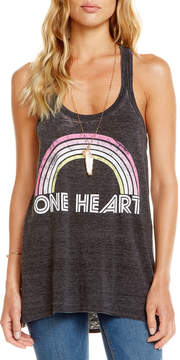 Chaser One Heart Rainbow Tank Top
