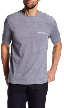 Thomas Dean Crew Neck Pique Regular Fit Tee