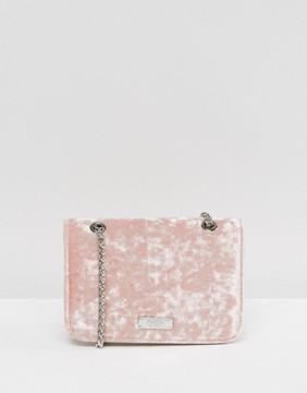 Faith Blush Velvet Mini Cross Body Bag