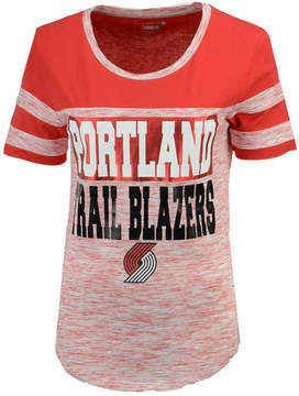 5th & Ocean Women's Portland Trail Blazers Space Dye Foil T-Shirt