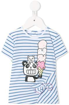 Little Marc Jacobs striped printed T-shirt