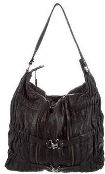 Botkier Ruched Leather Shoulder Bag