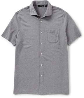 Murano Slim-Fit Solid Coatfront Short-Sleeve Polo Shirt
