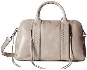 Rebecca Minkoff Vanity Zip Satchel Satchel Handbags - PUTTY - STYLE