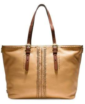 Cole Haan Loralie Whipstitch Top Zip Leather Tote