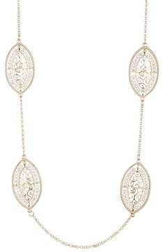 Natasha Accessories Filigree Stationed Necklace