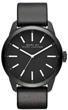 Marc Jacobs Men's Black Dillon Leather Strap Watch MBM5092