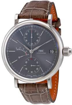 IWC Portofino Monopusher Ardoise Dial Chronograph 18kt White Gold Men's Watch