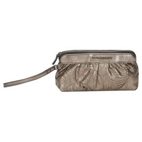 Burberry Metallic Leather Clutch Bag
