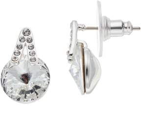 Brilliance+ Brilliance Silver Plated Drop Earrings with Swarovski Crystals