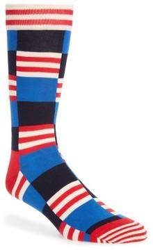 Happy Socks Men's Check & Stripe Socks