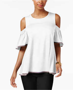 Cable & Gauge Cupio Cold-Shoulder Top