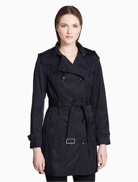 Calvin Klein Cotton Belted Trench Coat