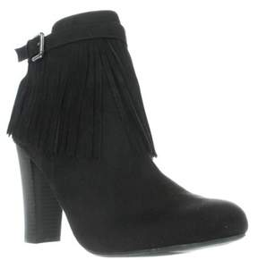 Material Girl Mg35 Persia Fringe Dress Ankle Boots, Black.