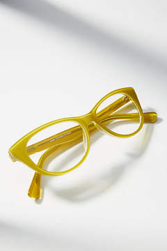 Anthropologie Chartreuse Reading Glasses